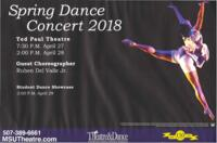 2018-04-27, Spring Dance Concert 2018, Promotional Poster. Theatre and Dance Department. Minnesota State University, Mankato.