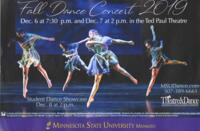 2019-12-06, Fall Dance Concert 2019, Promotional Poster. Theatre and Dance Department. Minnesota State University, Mankato.