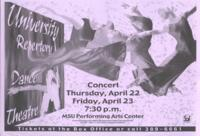 2004-04-22, University Repertory Dance Theatre, Promotional Poster. Theatre and Dance Department. Minnesota State University, Mankato.