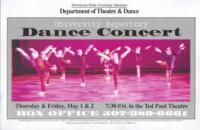 2003-05-01, University Repertory Dance Concert, Promotional Poster. Theatre and Dance Department. Minnesota State University, Mankato.