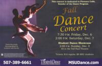 2013-12-06, Fall Dance Concert, Promotional Poster. Theatre and Dance Department. Minnesota State University, Mankato.