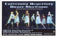 2001-12-06, University Repertory Dance Showcase, Promotional Poster. Theatre and Dance Department. Minnesota State University, Mankato.