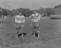 Mankato State College Football Team members, Joe Giamonni and Tom Huffman, 1962-09-13.