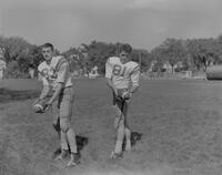Mankato State College Football Team members, Joe Hanzel and Dick Kern, 1962-09-13.
