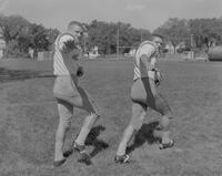 Mankato State College Football Team members, Thomas and Jerry Siebold, 1962-09-13.