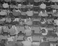 An audience at Mankato State College, 1962-09-24.