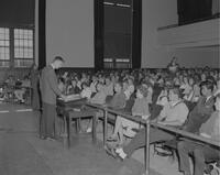 A lecture at Mankato State College, 1962-09-24.