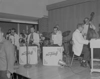 Marv Tenhoff Band playing at Mankato State College's Freshman Mixer, 1962-09-24.