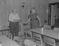 Retirement coffee for Bill Haws at Mankato State College, 1963-06-27.