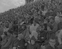 Audience at 1964 Mankato State College Homecoming game, 1964-10-19.