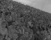 Audience at Mankato State College Homecoming game, 1964-10-19.