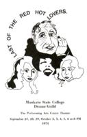 1974-09-27, Last of the Red Hot Lovers, Program. Theatre and Dance Department.  Minnesota State University, Mankato.