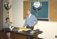 Anita Stone's retirement in Centennial Student Union at Mankato State University. 04-03-1989.