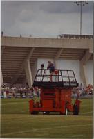 Mankato State University Vikings Camp at Blakeslee Stadium, August 1987.
