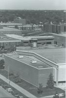 A picture showing the construction of the Mankato State University Highland North building, 1970s.