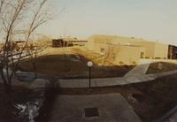 A birds eye view of Pennington Hall and Morris Hall at Mankato State University, 1989-12-08.