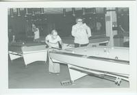 A picture of Mankato State College students playing billiards in the Centennial Student Union 1970s.