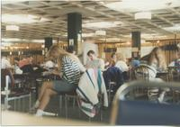 A picture of Mankato State University students studying and relaxing in the MSU Centennial Student Union, 1980s.