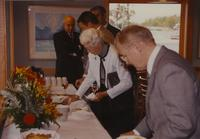 A Reception for Boris Bimbar at Mankato State University, 1990-10-08.