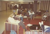A picture of Mankato State University students studying in the MSU Centennial Student Union, 1980s.
