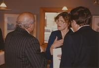 Mankato State University President, Dr. Margaret R. Preska speaking from the heart at a reception near Mankato State University, 1990-10-08.