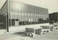 A picture looking at part of the Mankato State University Trafton Science Center, 1970s.
