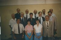 A picture of the members of the 1985 Mankato State University chemistry department.