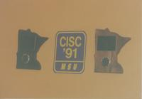 Complex Instruction Set Computer (CISC MSU) plaque at Mankato State University, 1991-05-15.
