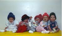 Babies at Children's House at Mankato State University December 13, 1989.