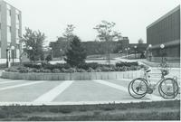 A picture of the Mankato State College Campus Mall, 1970s.