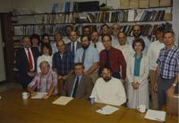 Biology Faculty in Trafton Center at Mankato State University, 1989-09-15.