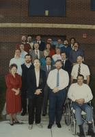 Faculty and staff of the Math Department at Mankato State University, 1989-09-12.