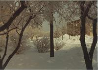 A picture of the Mankato State College Campus Mall covered with snow, 1970s.