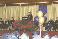 College President Margaret R. Preska at commencement in Mankato State University, 1989-12-08.