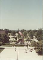 A picture taken from the roof of Armstrong Hall, Mankato State College,1980s.