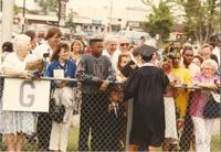 Mankato State University Commencement at Blakeslee Staduim, 06-08-1990.