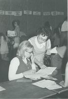 1972 freshman registration, in the Centennial Student Union, at Mankato State College.
