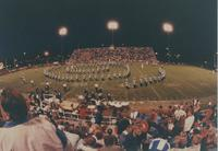 Marching band during the Maverick versus Bison game at Mankato State University, 1990-09-15.