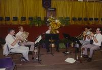 A band playing at Mankato State University, 1990-08-17.