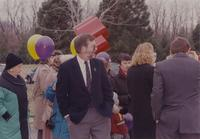 Memorial Library Dedication at Mankato State University, 1990-11-12.