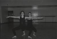 Two female students dancing at Mankato State University, 1991-01-17.