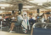Mankato State University students studying in the Centennial Student Union, 1980s.