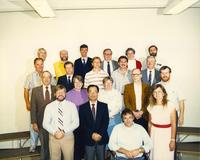 Mathematics, Astronomy and Statistic's staff and professors at Mankato State University, 1988.