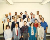 Biological Science staff and professors at Mankato State University, 1988.