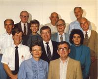 Chemistry department staff and professors at Mankato State University, 1987.