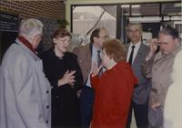 College President Margaret R. Preska with colleagues at Mankato State University, 1990-11-12