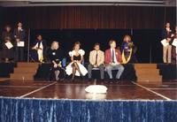 Homecoming Royalty/Coronation in the Centennial Student Union Ballroom at Mankato State University, 1989-10-18.