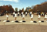 MSU cheer squad during Homecoming Week at Mankato State University, 1989-10-20.