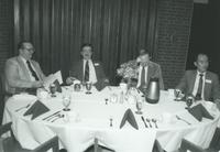 Group of men dining at the Campus Campaign Kickoff Luncheon in the Centennial Student Union at Mankato State University