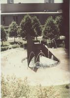 A picture of the Mankato State University fountain and Centennial Student Union building, 1980s.